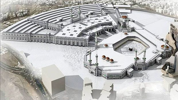 An artist s impressions of the new expansion of the grand mosque in