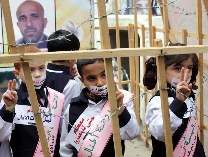 Afbeeldingsresultaat voor children in israeli jails
