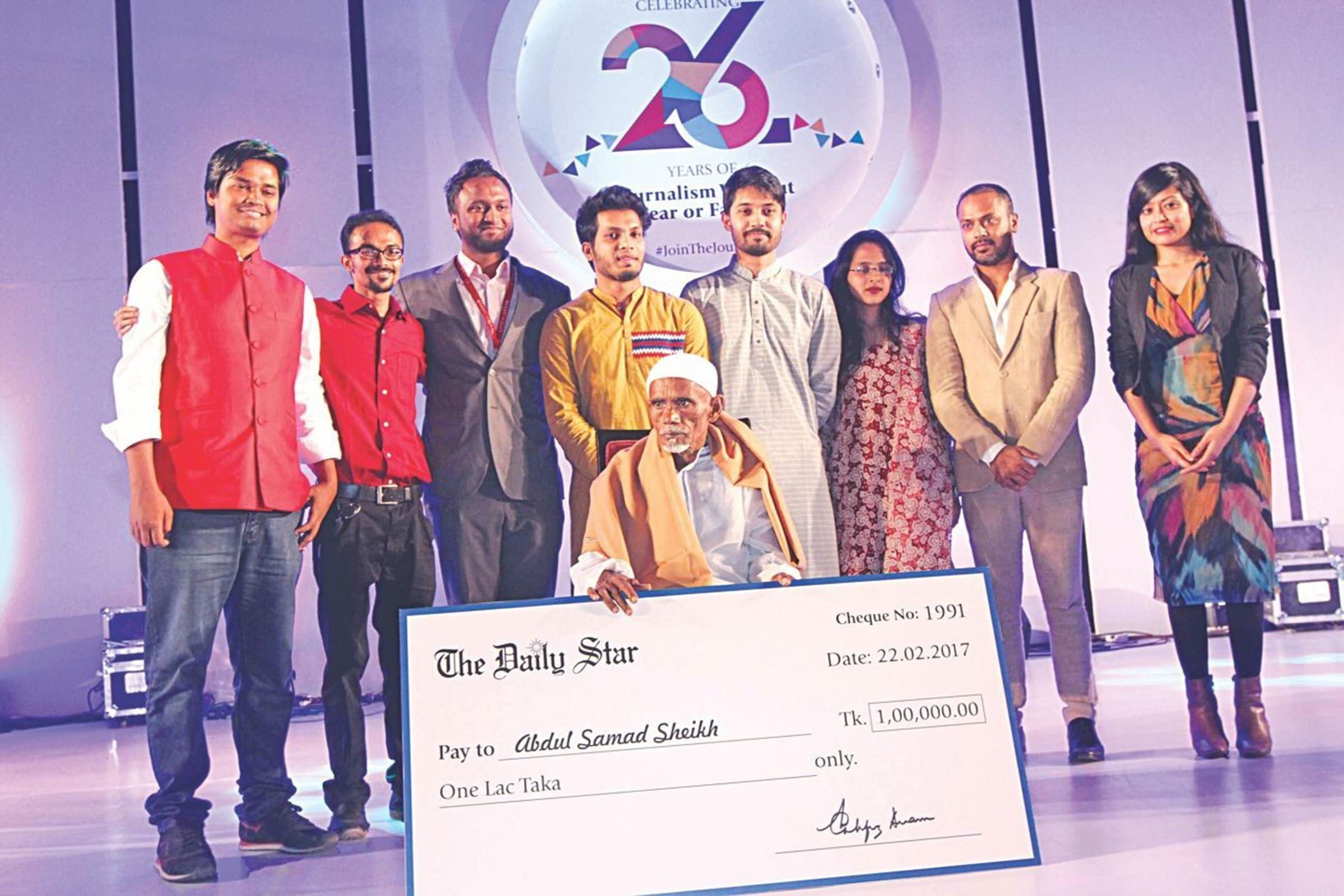 Абдул Самад Шейх был награждён «The Daily Star» за вклад в сохранение природы